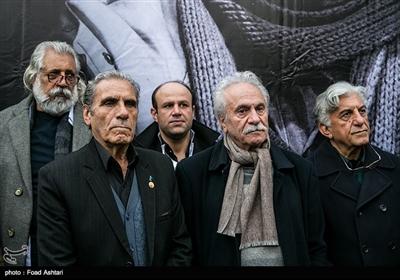 رضا کیانیان، ایرج راد و رضا ناجی در مراسم تشییع پیکر مرحوم حسین محباهری