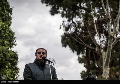 سخنرانی علی دهکردی در مراسم تشییع پیکر مرحوم حسین محباهری