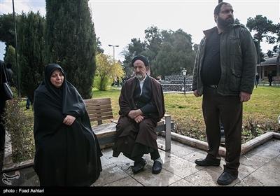 حجتالاسلام سیدمحمود دعایی در مراسم تشییع پیکر مرحوم حسین محباهری