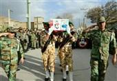 پیکر 2 شهید سانحه هواپیمایی در لرستان تشییع شد