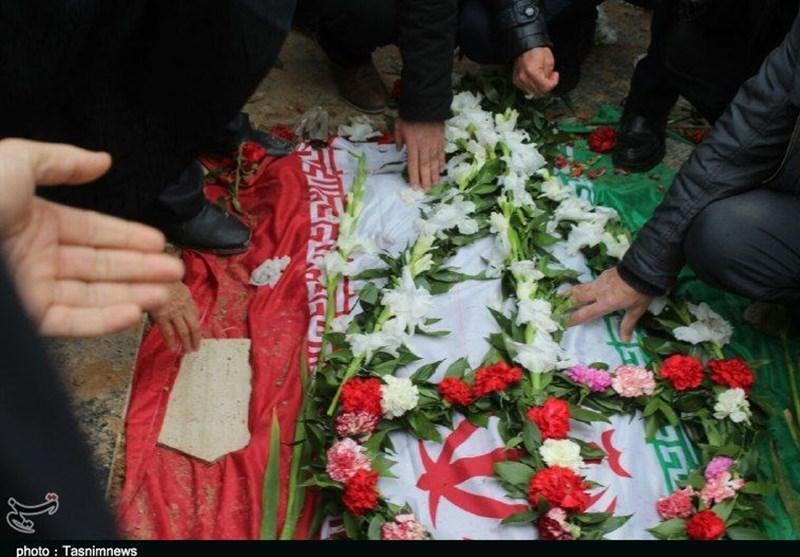 پیکر شهید مرتضوی پس از 32سال در زادگاهش آرام گرفت