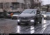 برف و باران تردد در جادههای مازندران را کند کرد