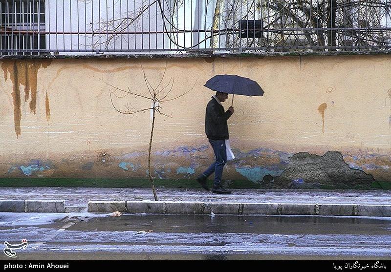 """بارش """"باران و تگرگ"""" همراه با رعدوبرق در تهران و بسیاری از استانهای کشور"""