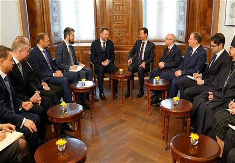 الرئیس الأسد یؤکد أهمیة مواصلة التعاون بین دمشق وموسکو خصوصاً فیما یتعلق بمکافحة الإرهاب
