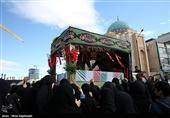 تشییع پیکر 10 شهید دفاع مقدس و مدافع حرم در مشهد