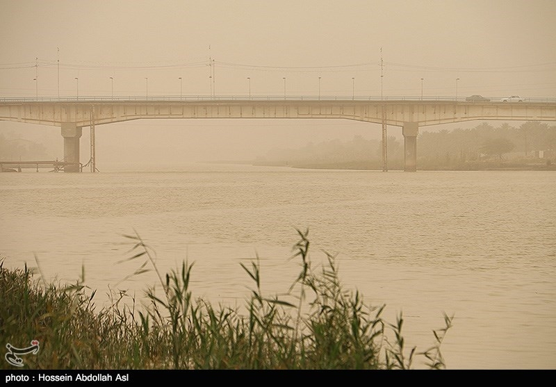 پدیده گرد و خاک موقت تا اواخر هفته بر خوزستان حاکم است
