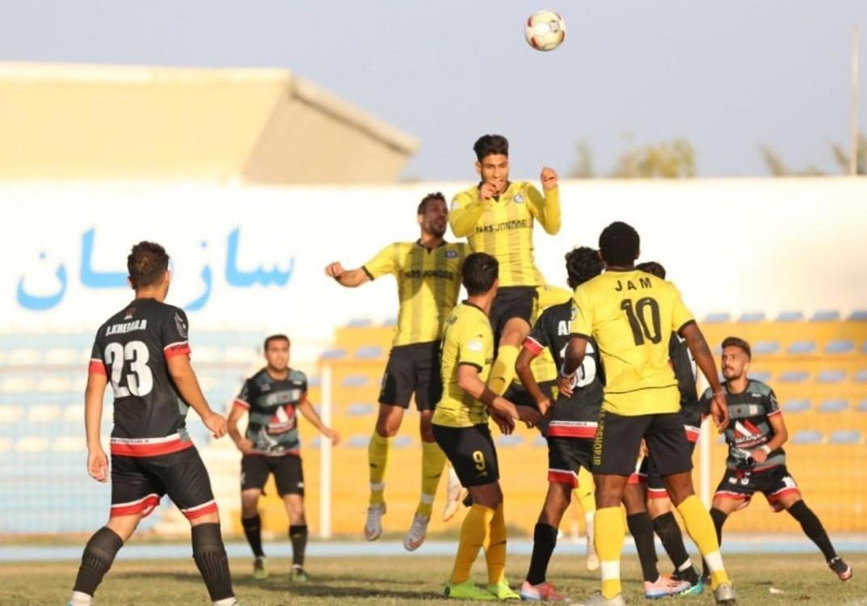 بوشهر پیروزی پرگل پارس جنوبی جم مقابل صدرنشین لیگ کیش