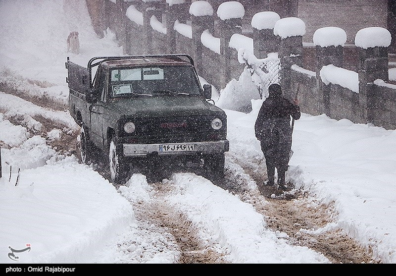 Heavy Snow Blankets Iran's Northern Rural Area