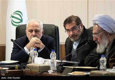 علی شمخانی و محمدجواد ظریف در جلسه مجمع تشخیص مصلحت نظام