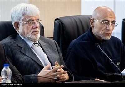 سیدمصطفی میرسلیم و محمدرضا عارف در جلسه مجمع تشخیص مصلحت نظام