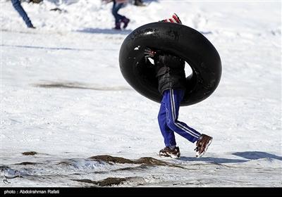 تفریحات زمستانی در همدان