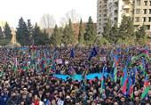 تظاهرات هزاران نفر از مردم جمهوری آذربایجان علیه الهام علیاف