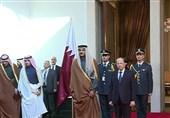 الرئیس اللبنانی یستقبل أمیر قطر