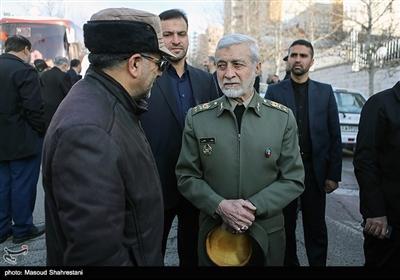 سرلشکر عطاالله صالحی جانشین ستاد کل نیروهای مسلح در مراسم تشییع پیکر سردار احمد فضائلی
