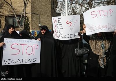 تجمع فعالان دانشجویی و رسانهای در حمایت از مرضیه هاشمی