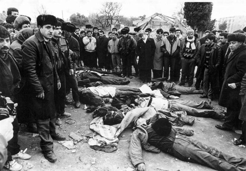 گزارش تسنیم| ژانویه سیاه روز آزادگی برای مردم جمهوری آذربایجان و روز ننگ برای ارتش شوروی+تصاویر