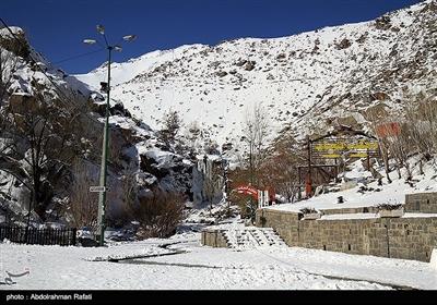طبیعت زمستانی آبشار گنجنامه - همدان