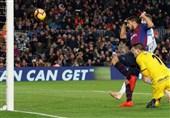 فوتبال جهان|برتری بارسلونا در شب مصدومیت دمبله