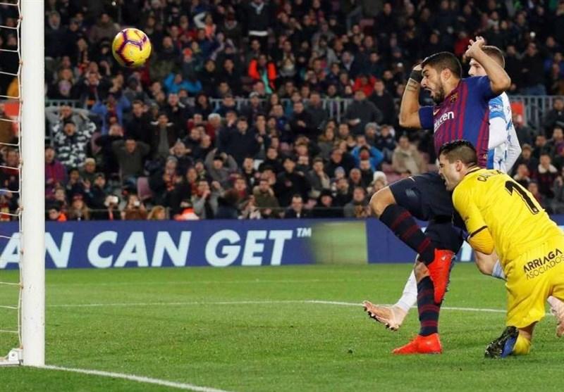 فوتبال جهان برتری بارسلونا در شب مصدومیت دمبله