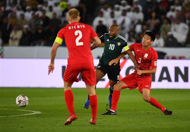 جام ملت های آسیا| تساوی امارات و قرقیزستان در وقت قانونی؛ کار به وقت اضافه کشیده شد