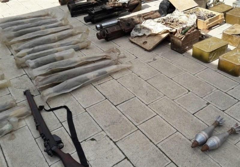 کشف انبار سلاحهای غربی تروریستها در استان داریای سوریه
