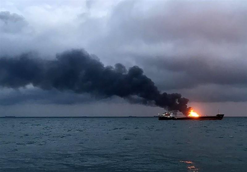 امیدی برای نجات ملوانان کشتیهای آتش گرفته در تنگه کرچ نیست