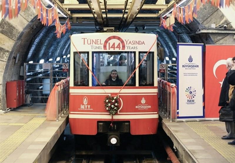 تونل متروی 144 ساله استانبول ترکیه + عکس