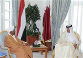 """دیدار سران سودان و قطر در دوحه؛ حمایت شیخ تمیم از """"البشیر"""""""
