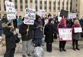 اعتراض آمریکاییها به بازداشت مرضیه هاشمی+عکس