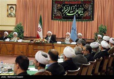 دیدار روسای دادگستری های کل کشور با آیت الله آملی لاریجانی رئیس قوه قضائیه