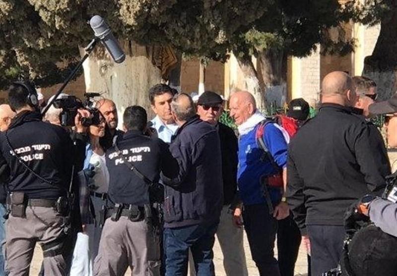 یورش صهیونیستها به مسجدالأقصی به سرکردگی رئیس پلیس قدس