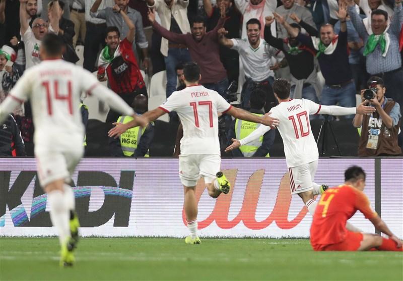 Image result for ایران و چین در یکچهارم نهایی جام ملتهای آسیا