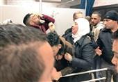لحظة اعلان استشهاد شاب فلسطینی برصاص الاحتلال