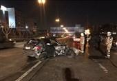 برخورد مرگبار پژو 206 با گاردیل در بزرگراه یادگار امام + تصاویر