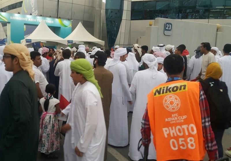 حاشیه دیدار قطر - امارات  بیاحترامی به سرود قطر و پرتاب کفش به سمت المعز علی