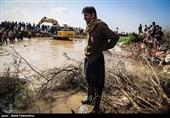 خوزستان| سیلبند شهر رفیع ترمیم شد