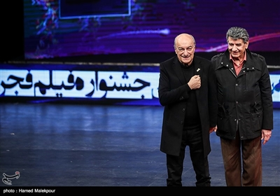 بزرگداشت خسرو خسروشاهی دوبلور پیشکسوت در مراسم افتتاحیه سیوهفتمین جشنواره فیلم فجر