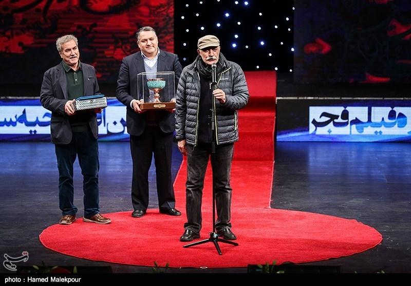 علیرضا شجاعنوری در مراسم افتتاحیه سیوهفتمین جشنواره فیلم فجر