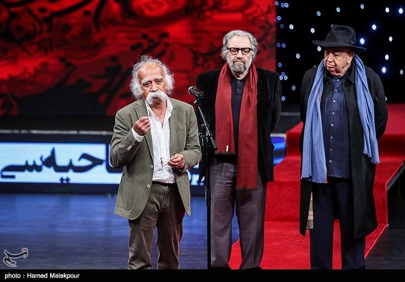 بزرگداشت عباس گنجوی تدوینگر پیشکسوت سینما در مراسم افتتاحیه سیوهفتمین جشنواره فیلم فجر