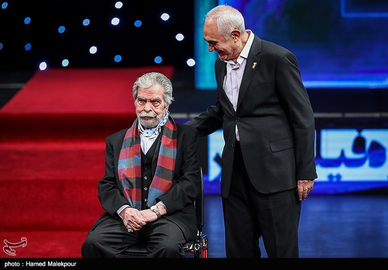 ناصر ممدوح و منوچهر اسماعیلی در مراسم افتتاحیه سیوهفتمین جشنواره فیلم فجر