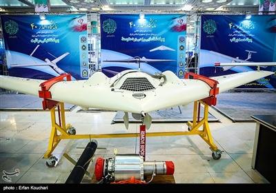 پهپاد شناسایی رزمی برد متوسط در نمایشگاه بزرگ دستاوردهای دفاعی جمهوری اسلامی ایران و نمایشگاه سازندگی محرومیت زدایی و خدمت رسانی