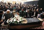 مراسم تشییع پیکر مرحوم نبی حبیبی دبیرکل موتلفه برگزار شد