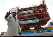 بوشهر|سکوی 24A پارسجنوبی در موقعیت خود در خلیج فارس نصب شد