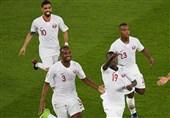 حاشیه دیدار ژاپن - قطر| قطریها جام قهرمانی را بالای سر بردند/ قدردانی عنابیها از عمان