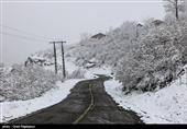 تمامی محورهای استان کرمان درگیر بارش باران و برف است
