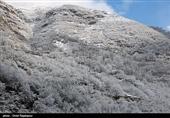 بارش برف در ارتفاعات گستان؛همراه داشتن زنجیرچرخ الزامی است