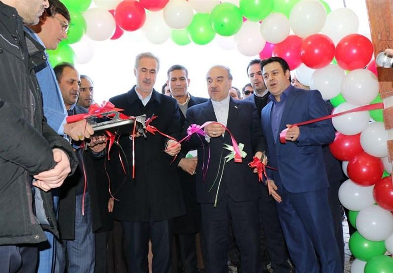 افتتاح سالن چند منظوره شهدای گمنام ملکان با حضور وزیر ورزش