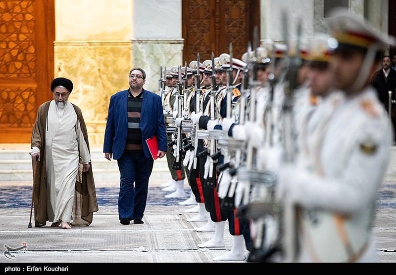 حجت الاسلام خطیب رئیس مرکز حفاظت اطلاعات قوه قضائیه در مراسم تجدید میثاق مسئولان قضایی با آرمانهای امام (ره)