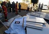 مرگ کارگر جوان زیر پالتهای چوبی + تصاویر