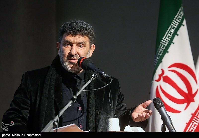 شعرخوانی سعید حدادیان در اختتامیه سوگواره «حریر سوخته»+فیلم